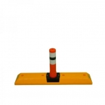 Parking curb with flexible post (Ø80mm) 1000x200x465 mm