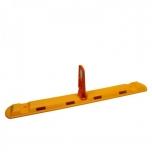 Lane seperator with small indicator 1170x150x280 mm, orange