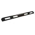 Rubber parking separator - 184 cm black white reflective