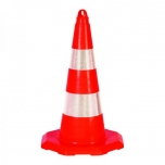 Traffic cone with hole for chain or barrier tape 520mm