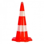 Traffic cone with hole for chain or barrier tape H700mm