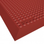 Skystep Red rubber kitchen mat with moulded edges
