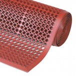 Sanitop Red rubber duckboard with moulded edges