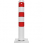 Tiltable steel tube bollard
