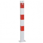 Square tube bollard with base plate 70x70xH900mm