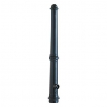 Aluminium ornamental bollard, matt black