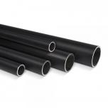 Round steel tube black D=27mm