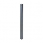 Ornamental bollard with aluminium head and decorative ring Ø102mm