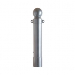 Ornamental bollard Ø140mm with aluminium globe and chain eyelets