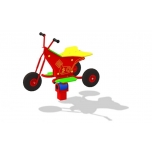 Trike Spring Rocker with concrete foundation, for underground fixing