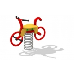 Bicycle Spring Rocker with concrete foundation, for underground fixing