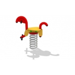 Seahorse Spring Rocker with concrete foundation, for underground fixing