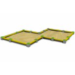 Double Rhombus Concrete Sandbox - 850 x 850 cm