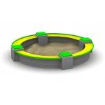 Circular Concrete Sandbox - ∅ 270 cm, Freestanding