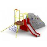 Playground Set with Climbing Boulder