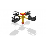 4 Seater Merry Go Round with Wheel