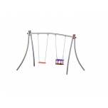 Futura Double Swing Set with Flat & Baby Seat