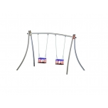 Futura Double Swing Set with Baby Seat