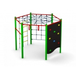 Hexagonal multifunctional climbing frame