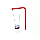 One-Armed Single Swing Set with Baby Seat