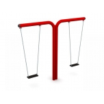 Double T-Swing Set with Flat Seat, H-240 cm