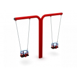 Double T-Swing Set with Baby Seat, H - 240 cm