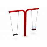 Double T-Swing Set with Flat & Baby Seats, H - 240 cm