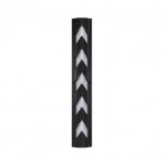 Column protector PVC black white with reflective