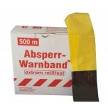 Barrier tape W80mm x 500m, yellow-black