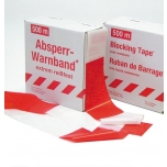 Barrier tape W80mm x 500m, red-white