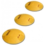 Roadstud Ø120 mm, yellow with double-sided reflectors