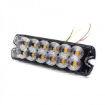 12xLED Surface Mount Light Head, 12-24V, yellow