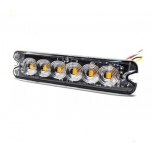 6xLED Surface Mount Light Head, 12-24V, yellow