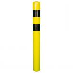 Metallist turvapost pinnasesse Ø159 mm H1000 mm, kollane-must