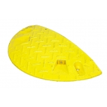 Liikluskünnise otsaelement H50, PVC kollane