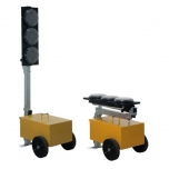 LED mobile traffic light with count down, 2pcs
