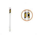 Marker pole with yellow reflector