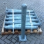Metallist turvapost tallaga Ø100 mm H1000 mm, tsingitud
